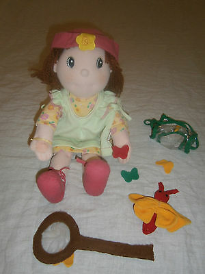 Zapf Creations Cloth Doll Maggie Raggies- 41 Cms With Butterflies & Catching Net