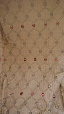 1 pair of lined gold brocade curtains Voyage fabrics