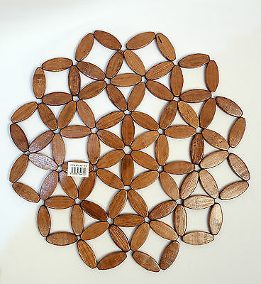 Bamboo Wooden Round Large  Place Mat  Heat Resistant Trivet,