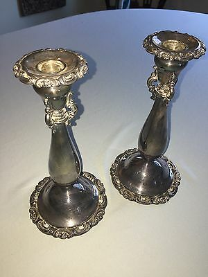 Vintage Baroque Wallace Candlesticks Silver plate