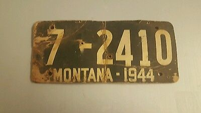 1944 Soy Bean Montana License Plate
