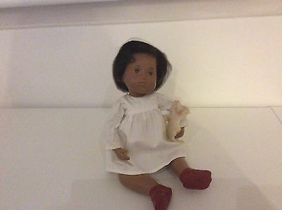 Original Baby Sasha Doll With Basket And Two Outfits