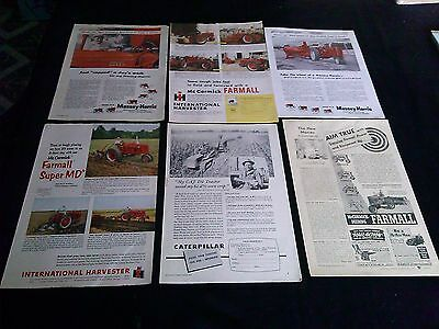 HUGE collection of 24 tractor magazine ads 1940's & up ford oliver case IH ad