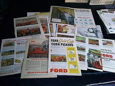 collection of 78 implement tractor magazine ads 1940's & up case john deere ad