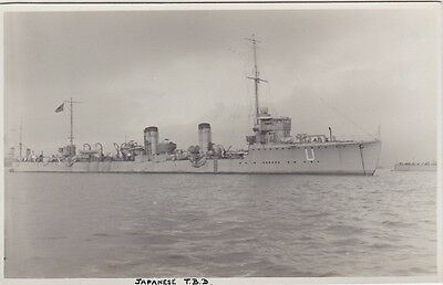 """Imperial Japanese Navy Real Photo. """"Momo""""   Momo class Destroyer.  WW1.  c 1916"""