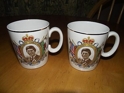 2 Commemorative Prince Charles Investiture Cups