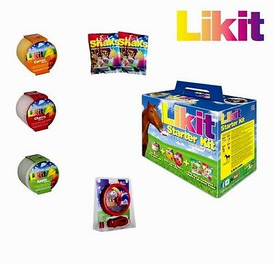 Likit Starter Kit Equine Horse Licks, Holders & Toys.