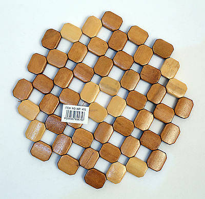 Bamboo Wooden Round small  Place Mat  Heat Resistant ( Diameter: 20CM)