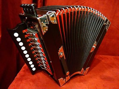NEW Weltmeister Diatonic Button Accordion Melodeon Cajun Black D LMMH 10 / 2