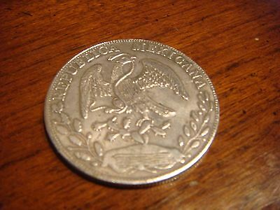 1882 Mexico Mexican 8 Reales Silver Coin 8R.Z. J S 10D 20 G