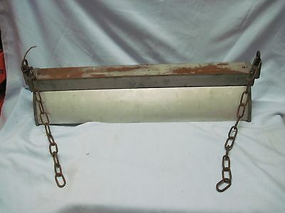 1930's INDUSTRIAL LONG HANGING SWING CEILING LIGHT FIXTURE VINTAGE