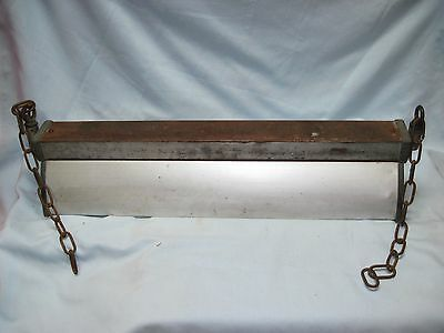 1930's INDUSTRIAL LONG HANGING SWING CEILING LIGHT FIXTURE VINTAGE #2