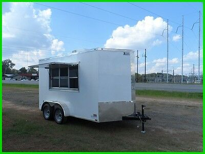 7x12 2ft v 14ft inside enclosed cargo motorcycle concession trailer 3 x 6 window
