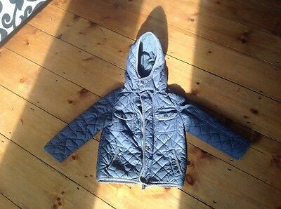 Boys blue puffa coat with hood 2-3 years old