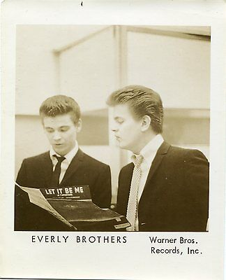 Original 1950s Everly Brothers fan club photo Don Phil vintage
