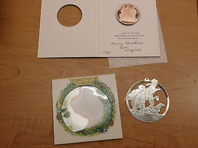 1984 We Three Kings-Coin from Franklin Mint & McDonalds' NormanRockwell Ornament