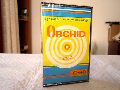 COMPACT CASSETTE TAPE BLANK SEALED - 1x (one) ORCHID C-90 Low Noise [1970's]