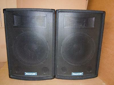 Sound LAB P115B Professional PA Speakers-Superb Sound.