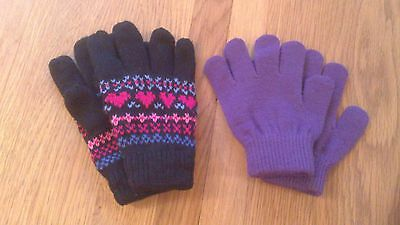 2 pairs girls gloves