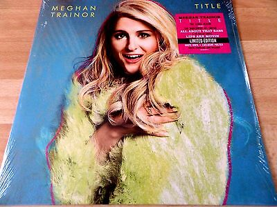 """Meghan Trainor    -  Title  12"""" White Vinyl Lp  With Poster  *new & Sealed*"""
