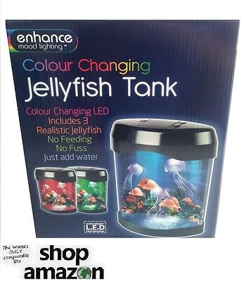 Amazing Colour Changing L.E.D Light Up Jellyfish Tank - Novelty Gift Idea