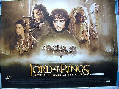 The Lord Of The Rings -The Fellowship Of The Ring- Qriginal Quad Poster.