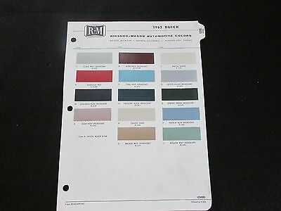 Paint Color Chip R-M Rinshed Mason 1963 Buick