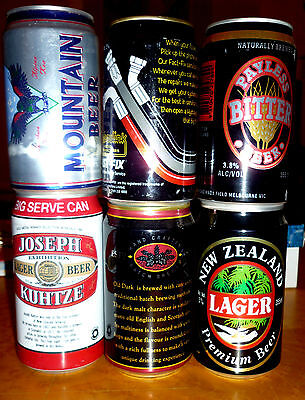 Collectable beercans -  Set of 6 assorted New Zealand cans2
