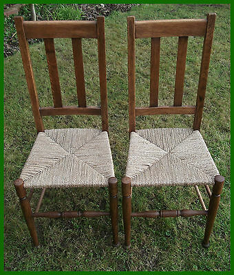 A Pair Of Antique Bedroom Chairs In An Arts & Crafts Style - Fully Restored