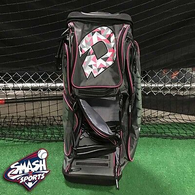 DeMarini Special Ops Limited Edition BCA Charcoal/Pink Roller Bag, new