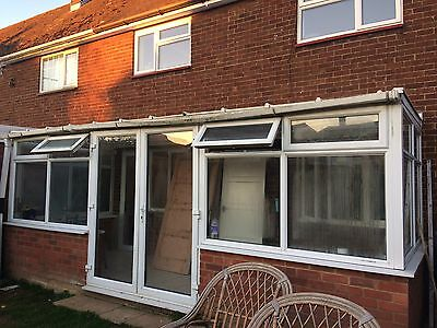 White conservatory 5.7 Wide X 2.1 Deep