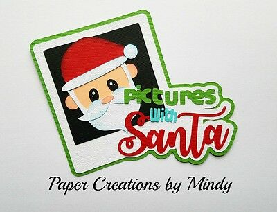 Craftecafe Mindy Christmas Santa Pictures Title premade paper piece scrapbook