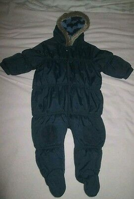 Boys Next All In One Cosy Warm Snowsuit 6-9 Months