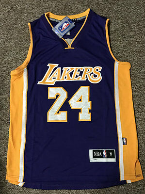 Bnwt Nba Basketball Jersey #24 Kobe Bryant Lakers Purple  Adults