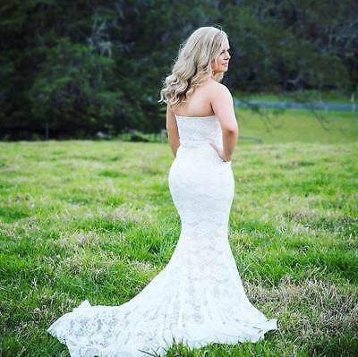 Jadore Wedding Gown Dress Ivory Nude White Lace Sweetheart Mermaid
