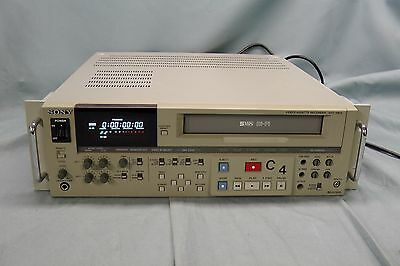 Sony SVO-5800 Videocassette Recorder Editing Deck VHS/S-VHS Playback VCR #6716
