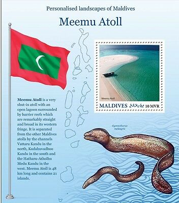 Maldives - New 2016 Beaches of Paradise Stamp Series - Thaa Atoll.  MNH