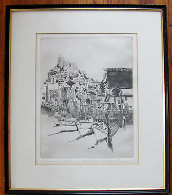 """""""DOLORES TRENNER"""" Pencil Signed, AP, """"Fisherman's Warf Etching"""