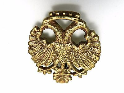 Antique,Double Headed Eagles Brass,Gold Parts,Salvaged Piece,Furniture Ornament
