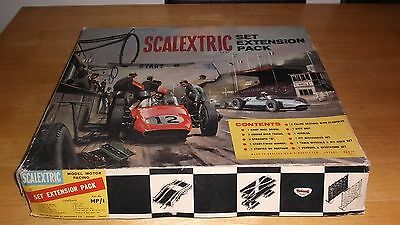 VINTAGE SCALEXTRIC HP1 SET EXTENSION PACK BOXED 1960s