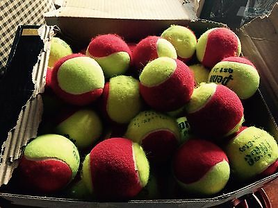 150 used red dot tennis balls