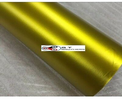 Yellow Matte Chrome Stretchy VINYL WRAP BUBBLE FREE 5m x1520mm VISIT OUR SHOP