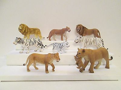 Lot 8 Lions and Tigers by Schleich AAA Safari Blip