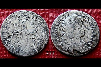 1680 Charles - II Silver Fourpence