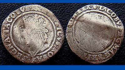Irish Hammered Silver Shilling of James I