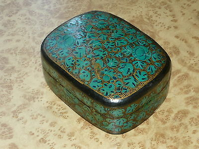 Vintage meher Trinket Box ~ old Paper Mache India Made