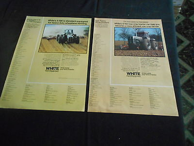 lot of 2 White tractor magazine print ads 1977 4-180 4-150 large ad