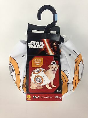 Star Wars BB-8 Pet Dog Costume Size Small Halloween Dress Up Disney New