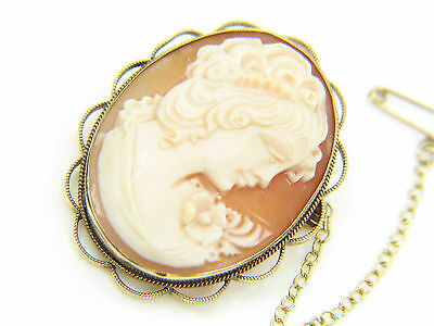 Mujer 9 ct 9ct gold Camafeo broche
