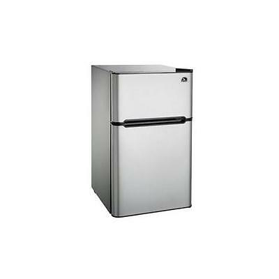 NEW Curtis FR834I 3.2 Cu Ft Compact Fridge Stainless Steel-2 Door